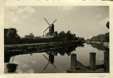 PHOTO ANCIENNE - VINTAGE SNAPSHOT - MOULIN À VENT REFLET - WINDMILL REFLECT