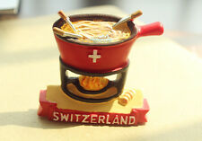 Switzerland Swiss Cheese Fondue Tourist Travel Souvenir 3D Resin Fridge Magnet