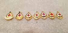 RED CROSS BLOOD DONOR & 1,2,3,4,5,6 Gallon Pins