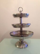 Target Home Traditional Holiday Silver 3 Tier Serving Tray, 26cmLx26cmx41.6cm