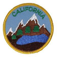 FB052 Califorina Mountains Embroidered Vintage Applique Travel Souvenir Patch FD