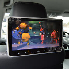 Clip-on plug-and-play Car HD DVD reposacabezas player/screen usb/sd/hdmi Audi q7/q5