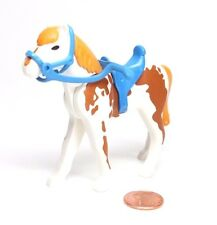 Playmobil Western Farm White Brown Spotted New-Style Horse Saddle Bridle 7943