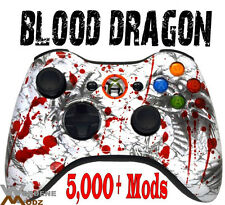 Blood Dragon RAPID FIRE Modded Xbox 360 Controllers COD BLACK OPS 2 MW3 Jitter