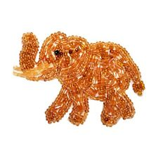 ID 8883 African Elephant Wild Zoo Circus Animal Beaded Iron On Applique Patch