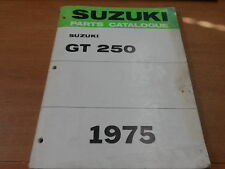 OEM Suzuki 1975 GT250K/L/M Parts catalogue