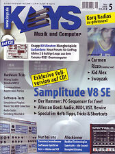 Keys 05 2006 auf CD 80 Minuten Klangbeispiele / Samplitude V8SE / PC-Sequencer