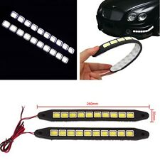 2x 12V LED COB Car Daytime Running Light Fog Driving Car Lamp Turn Light Strip