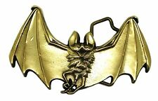 Vampire Bat Belt Buckle Dark Gothic Solid Brass Official Baron Buckles Product