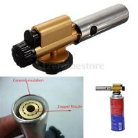 Auto Ignition Butane Gas Blow Torch Flamethrower Burner Camping Welding BBQ Tool