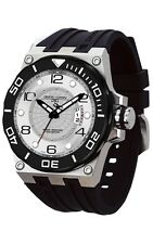 Jorg Gray JG9600-11 Mens Watch White Dial Swiss Movement Black Rubber Strap