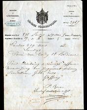 BORDEAUX (33) TELEGRAPHE / DEPECHE TELEGRAPHIQUE en 1858