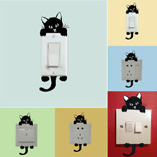 hot 5 Pcs Cat Switch Decal Wall Stickers Home Wall Decal Switch good Decoration