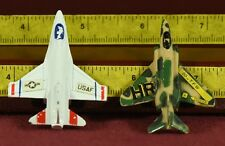 Tootsietoy Tootsie Toy Military Plane lot (2) F-15 & F-4