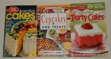 lot of 3 Betty Crocker Party Cakes Creative Best Recipe Cupcakes treats cookbook