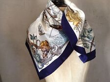 foulard HERMÈS ' L'OCEAN' VAISSEAU DE 118 Canons 1790-1845 vintage