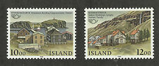 Iceland 624-625 (1986) MNH/OGnh XF/S to S {Illustrated Small Towns} 2 Stamps