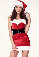 Sexy Women's Christmas Red Mistletoe Cutie Fancy Dress Costume