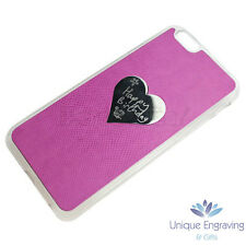 Personalised Photo / Text / Logo Engraved Heart iPhone  /5/6 Case - Mothers Day
