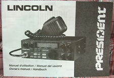 President Lincoln AM/SSB Transceiver Owners Manual - MINT