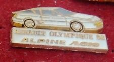 RARE PIN'S ALPINE RANAULT A 610 BLANCHE OLYMPIQUE 92