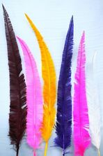 """10 OSTRICH NANDU Trimmed FEATHERS 18-23"""" MANY COLORS"""
