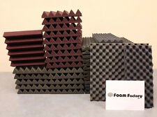 "Studio Acoustic Soundproofing 2"" Wedge Foam (REMNANT) Burgundy"
