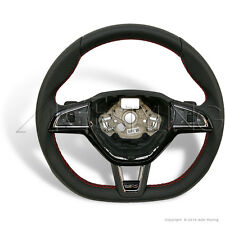 SKODA VRS Octavia Fabia Superb Steering Wheel w. Red Stitching 5E0419091AQHTH