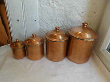 French 4 of cantainer - container copper with lids for kitchen decoration
