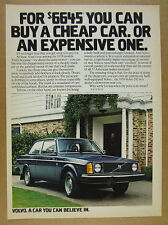 1978 Volvo 242 blue car color photo vintage print Ad
