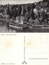 1960's HOTEL CENTRAL WEGGIS SWITZERLAND UNUSED REAL PHOTOGRAPH POSTCARD