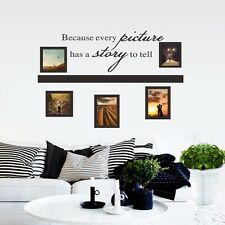 Because Every Picture Has a Story To Tell Photo Frame Vinyl Wall Sticker Decor