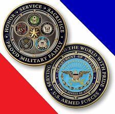 US ARMED FORCES USMC US Navy USAF Army Coast Guard Heroes Challenge Coin Medal