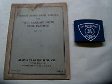 ALLIS-CHALMERS WD REAR-MOUNTED DRILL PLANTER DEALERS REPAIR PARTS CATALOG 1949