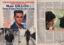 Coupure de presse Clipping 1990 Matt Dillon  (2 pages)
