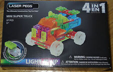 Mini Super Truck Laser Pegs Light up Construction Building Block Toy MPS600B