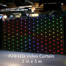 2mx3m LED Video Curtain Star Cloth P20 Matrix PC Backdrop Wedding Stage DJ Pub