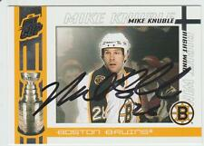 Mike Knuble AUTOGRAPH QUEST FOR THE CUP HOCKEY CARD SIGNED
