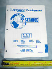 Johnson Evinrude 5HP, 6HP, 8HP  Models Outboard Boat Motor Parts Catalog 437465