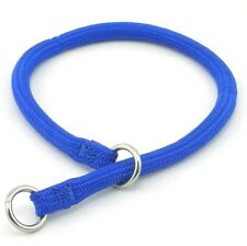 "HAMILTON Round Braided Nylon Choke Dog Collar, 3/16"" x 10"", Blue"