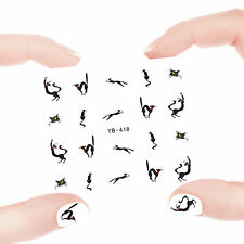 Nail Art Manicure Water Transfer Decal Stickers Lovely Cat YB418