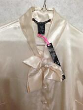 NEW NWT PIERRE CARDIN SHINY SILKY SATIN BOW TOP SHIRT DRESS SUIT BLOUSE pvt auc