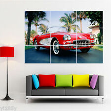1960 Corvette Red Classic Car Poster Large Print Giant Wall Art Room Decor G1