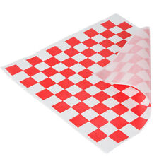 "50 Sheets Red and White Checkered Deli Wrap Paper 12""x12"""