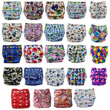 1Pc Happy Flute Bamboo Cloth Diaper Charcoal Washable Waterproof Breathable