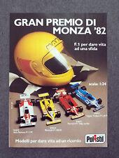 G258-Advertising Pubblicità - 1982 - POLISTIL MODELLINI F.1 MONZA '82