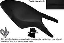 BLACK STITCH CUSTOM FITS CAGIVA RAPTOR 650 1000 DUAL LEATHER SEAT COVER ONLY