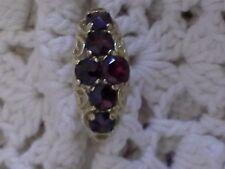 Vintage garnet yellow gold ring