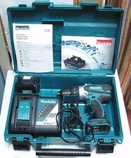 "LQQK MAKITA 1/2"" 18V LI-ION DRILL XPH03 w/battery, charger & case Must See!"