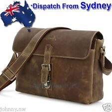 MS Genuine Leather Cowhide JM100-AU Men's Messenger Cross Body Shoulder Bag